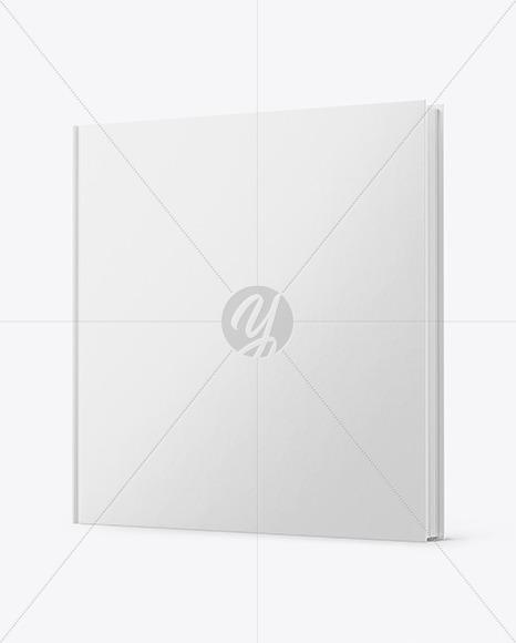 Book w/ Matte Cover Mockup - Half Side View