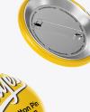 Three Circle Button Pins Mockup