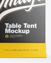 Matte Table Tent Mockup