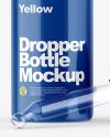 Opened Glossy Dropper Bottle Mockup