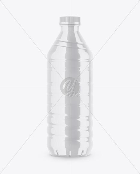 Glossy Drink Bottle Mockup