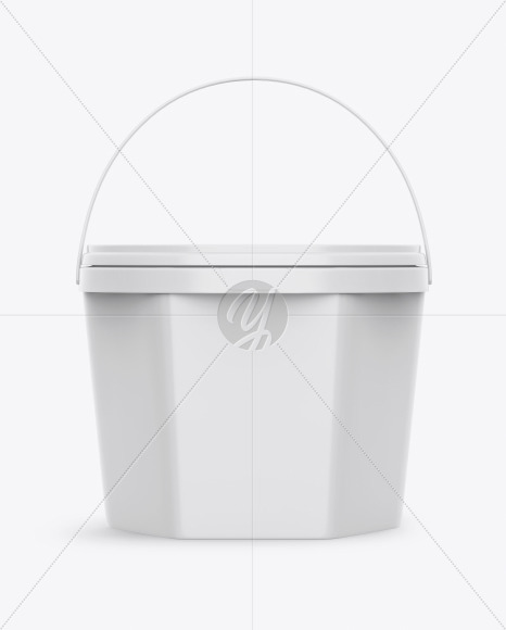 Glossy Ice Cream Bucket Mockup