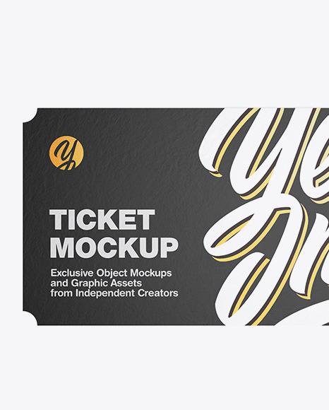 Paper Ticket Mockup