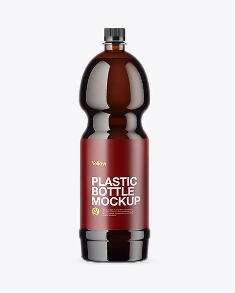 PET Amber Bottle Mockup