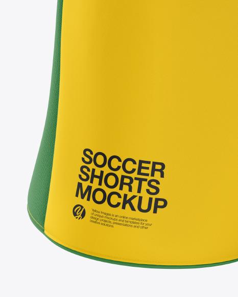 Men's Soccer Shorts v2 mockup (Front View)