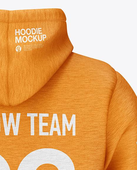 Melange Hoodie Mockup - Back View