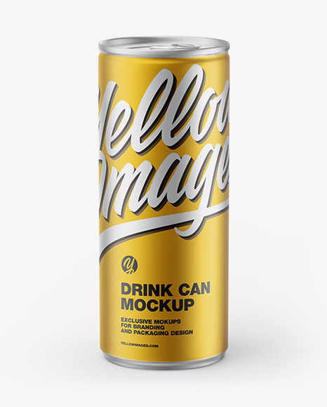 Matte Metallic Can Mockup