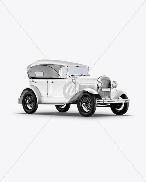 Vintage Car Mockup - Yellowimages Mockups