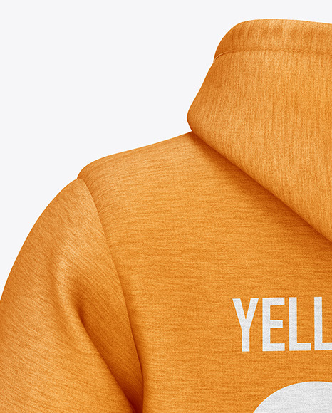 Download Melange Hoodie Mockup Front View Yellowimages