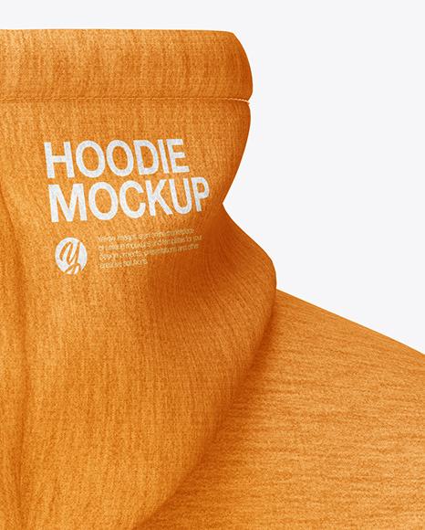 Melange Hoodie Mockup - Back Half Side View