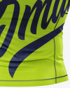 Men's Short Sleeve Jersey on Athletic Body Mockup