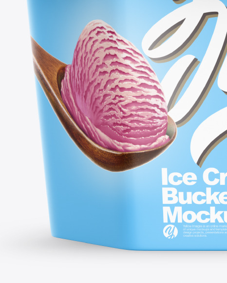 Matte Ice Cream Bucket Mockup