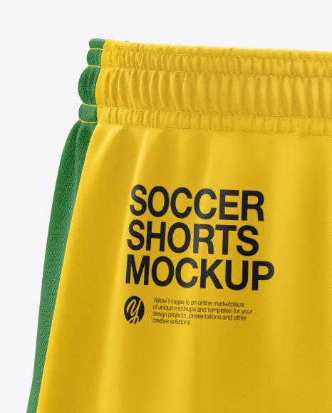 Men's Soccer Shorts v2 mockup (Back View)