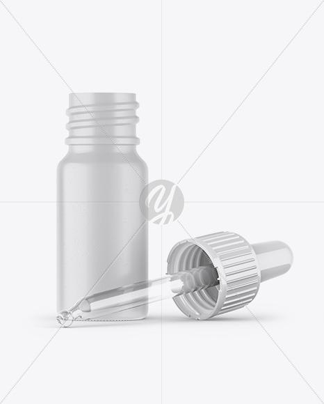 Opened Ceramic Dropper Bottle Mockup