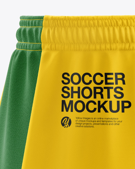 Men's Soccer Shorts v2 mockup (Back Half Side View)