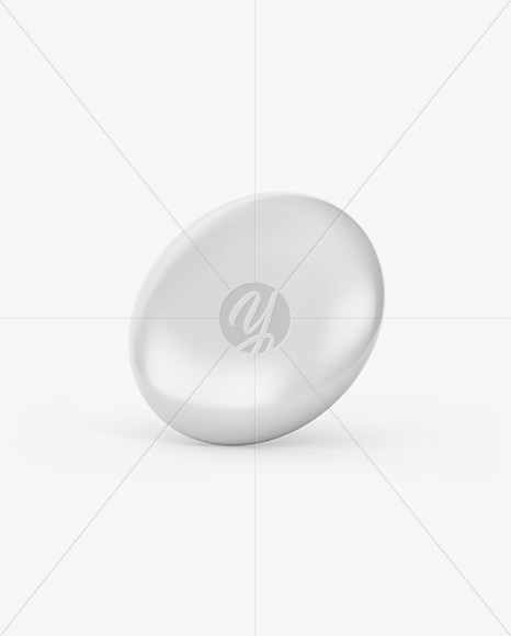 Circle Button Pin Mockup