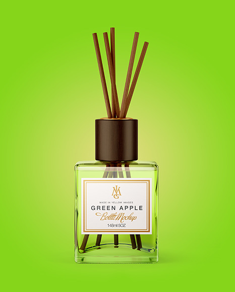 Reed Diffuser Glass Bottle Mockup