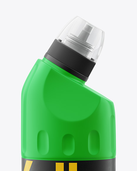 500ml Matte Plastic Toilet Bowl Cleaner Bottle Mockup - Front View