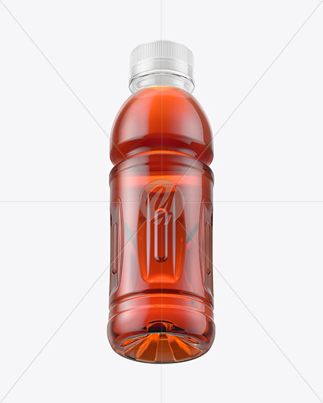 Download 10oz Tea Bottle In Shrink Sleeve With Condensation Mockup Front View PSD - Free PSD Mockup Templates