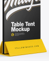 Plastic Table Tent Mockup