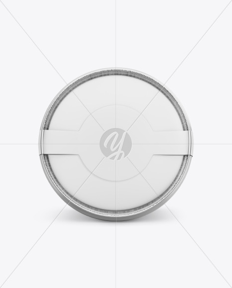 Metallic Ice Cream Cup Mockup - Top View