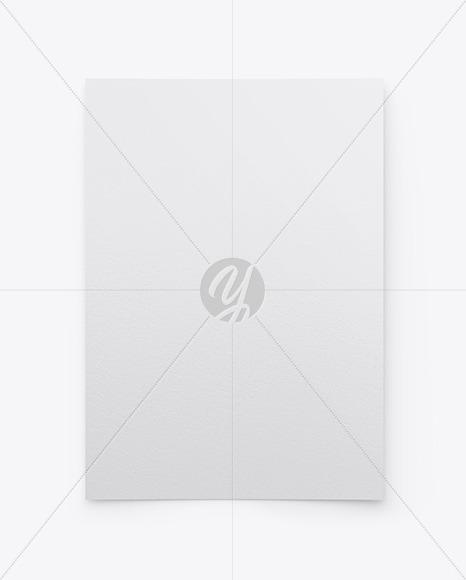Textured A4 Paper Mockup