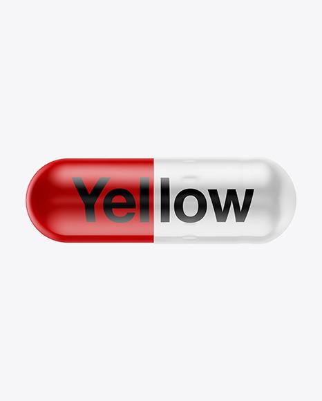 Glossy Pill Mockup