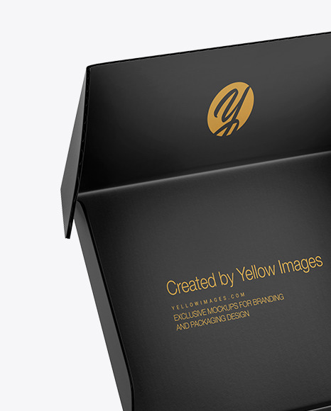 Download Paper Box Mockup In Box Mockups On Yellow Images Object Mockups PSD Mockup Templates