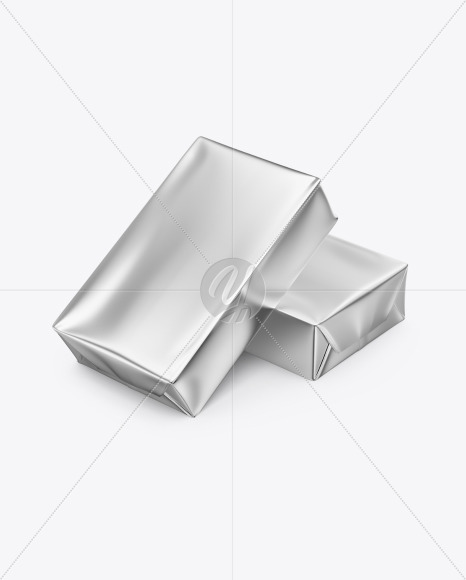 Two Metallic Butter Blocks Mockup