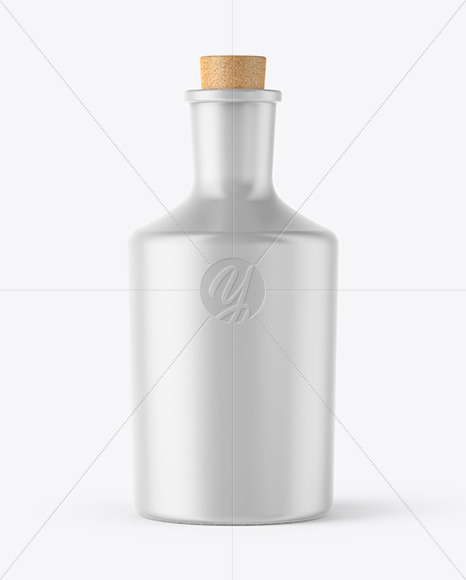 Ceramic Bottle with Cork Mockup