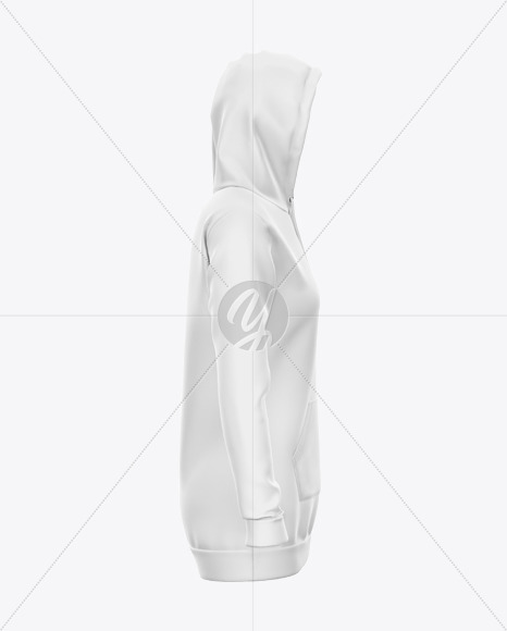 Hoodie Dress Mockup - Right Side View