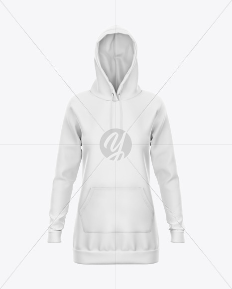 Hoodie Dress  Mockup - Front View