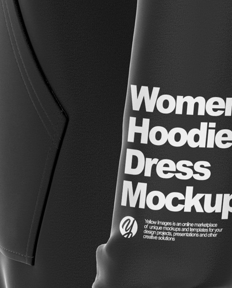 Hoodie Dress Mockup - Left Side View