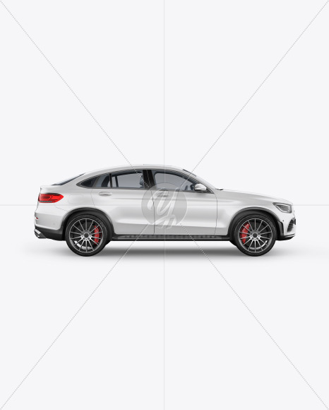 Coupe Crossover SUV Mockup - Side View - Yellowimages Mockups