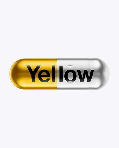 Matte Metallic Pill Mockup