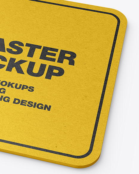 Kraft Beverage Coaster Mockup