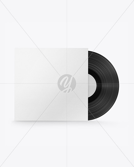 Textured Vinyl Record Mockup