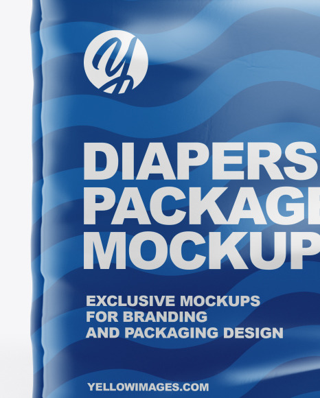 Glossy Diapers Pack Mockup