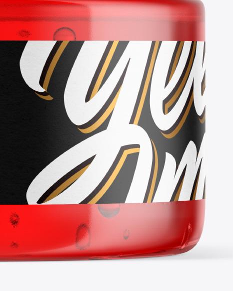 Plastic Jar with Gel Mockup