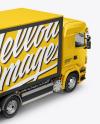 Truck Mockup – Back Half Side View (High-Angle Shot)