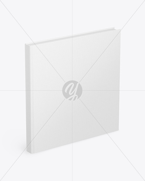 Book w/ Fabric Cover Mockup - High Angle View