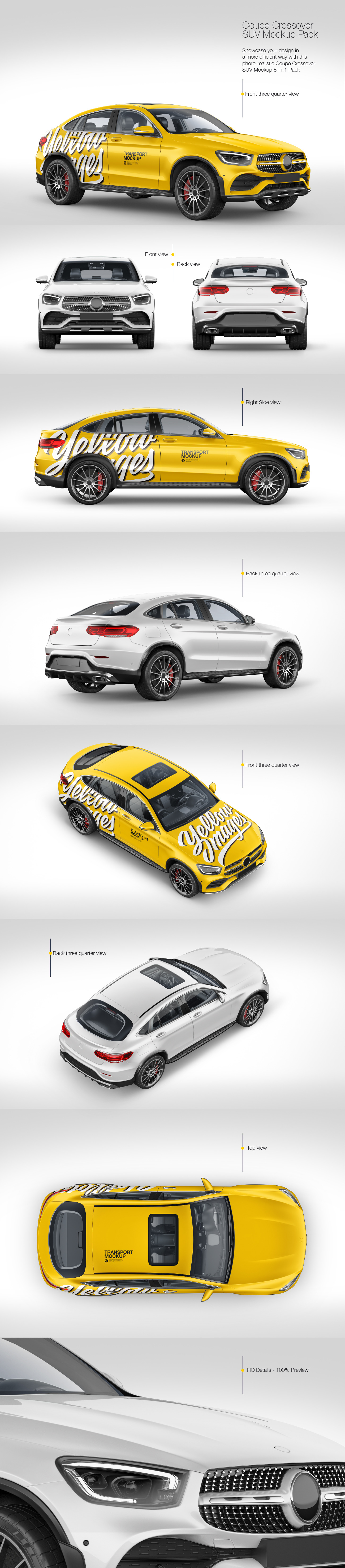 Coupe Crossover SUV Mockup Pack
