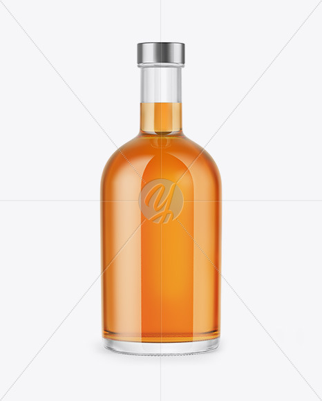 Download Clear Glass Whiskey Bottle Mockup In Bottle Mockups On Yellow Images Object Mockups PSD Mockup Templates