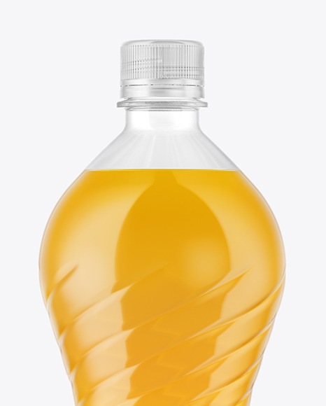 1,5L PET Bottle With Orange Drink Mockup