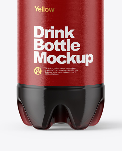 500ml PET Bottle With Cola Mockup