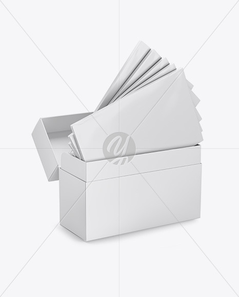 Download Box With Samples Packs Mockup In Box Mockups On Yellow Images Object Mockups PSD Mockup Templates