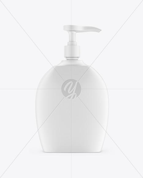 Liquid Soap Bottle with Pump Mockup