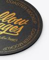 Kraft Beverage Coaster Mockup