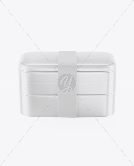 Glossy Lunch Box Mockup