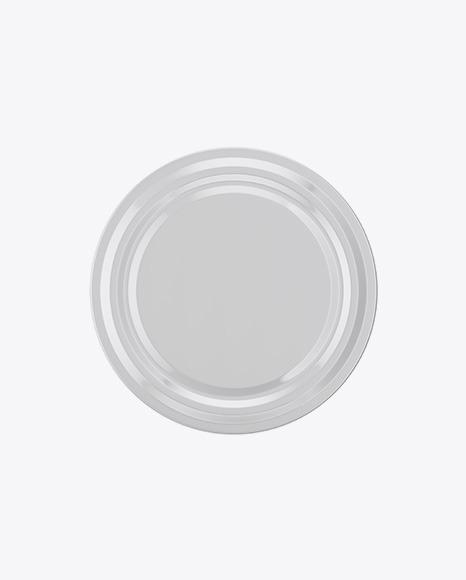 Glass Jam Jar With Screw Lid Mockup - High-Angle View